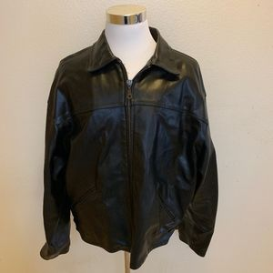 Black Leather Prague Jacket XXL
